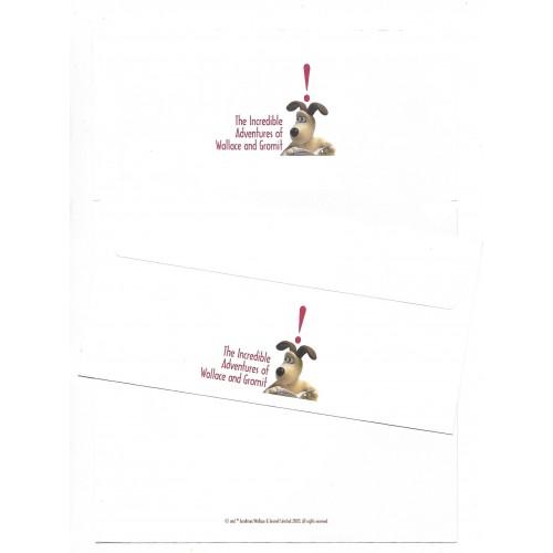 Conjunto de Papel de Carta importado Wallace and Gromit 2003