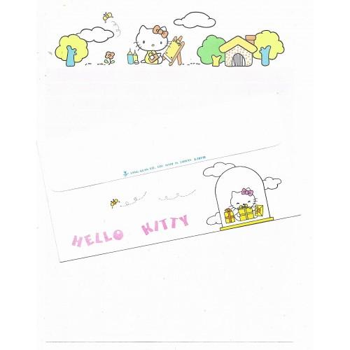 Conjunto de Papel de Carta Hello Kitty Vintage Lang Kuan 3 Taiwan