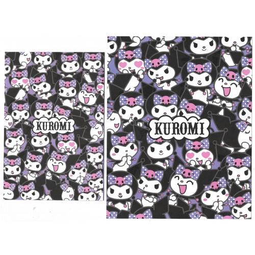 Ano 2021. Conjunto de Papel de Carta Kuromi Sanrio