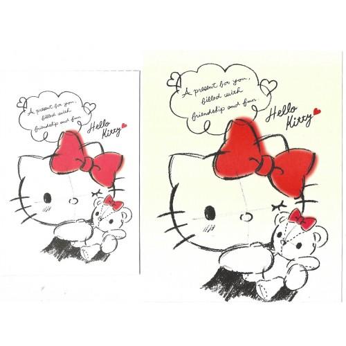 Ano 2019. Conjunto de Papel de Carta Hello Kitty Sanrio