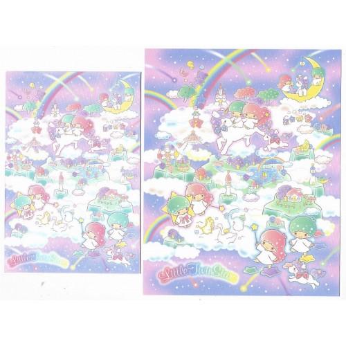 Ano 2020. Conjunto de Papel de Carta Little Twin Stars Sanrio