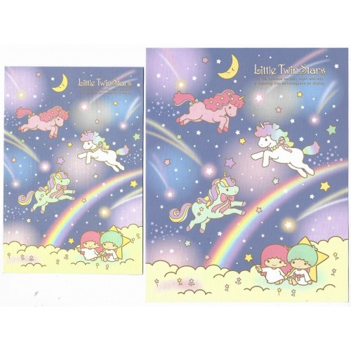 Ano 2021. Conjunto de Papel de Carta Little Twin Stars Sanrio