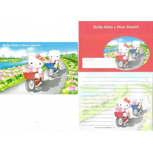 Ano 2003. Conjunto de Papel de Carta Hello Kitty & Dear Daniel CVM Sanrio