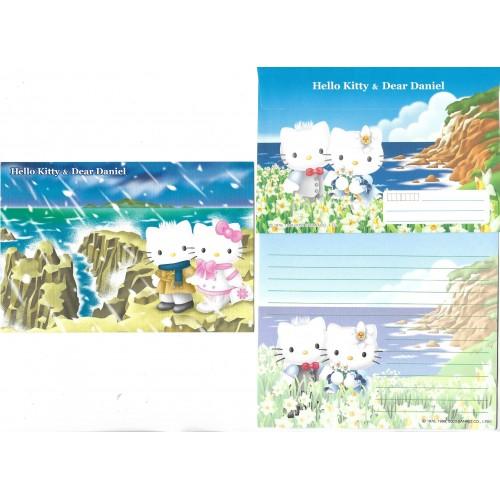 Ano 2003. Conjunto de Papel de Carta Hello Kitty & Dear Daniel Regional II Sanrio