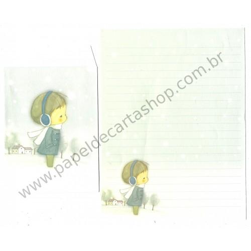 Conjunto de Papel de Carta Importado AMY & TIM 07