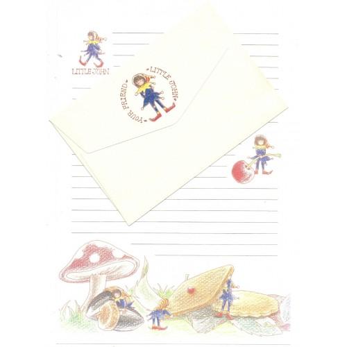 Conjunto de Papel de Carta Antigo Importado Little John JAPAN