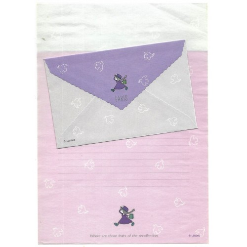 Conjunto de Papel de Carta Antigo IMPORTADO Paris Legend JAPAN