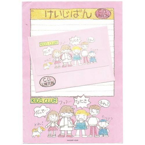 Conjunto de Papel de Carta Antigo KIDS CLUB Stationery House JAPAN