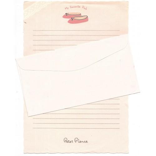 Conjunto de Papel de Carta Antigo Vintage My Favorite Pink Petet Pierce JPN