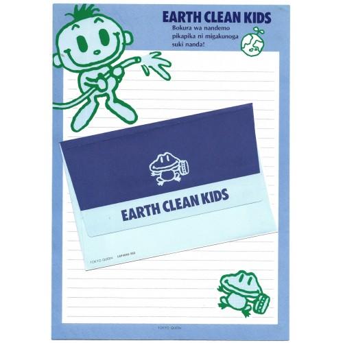Conjunto de Papel de Carta Antigo Vintage Earth Clean Kids Tokyo Queen