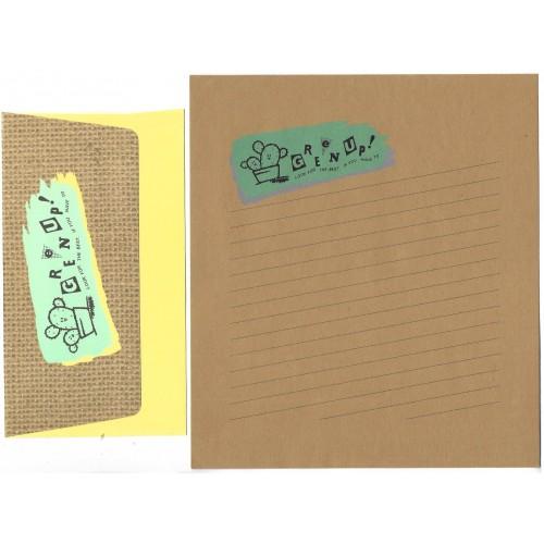 Conjunto de Papel de Carta Antigo Vintage Green Up CRA Japan