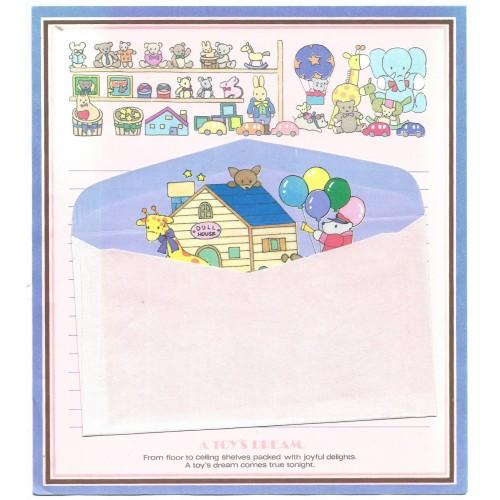 Conjunto de Papel de Carta Antigo Vintage A Toy's Dream Japan