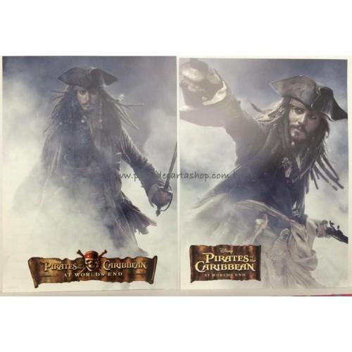 Kit com 2 Papéis de Carta Avulsos Disney Piratas do Caribe