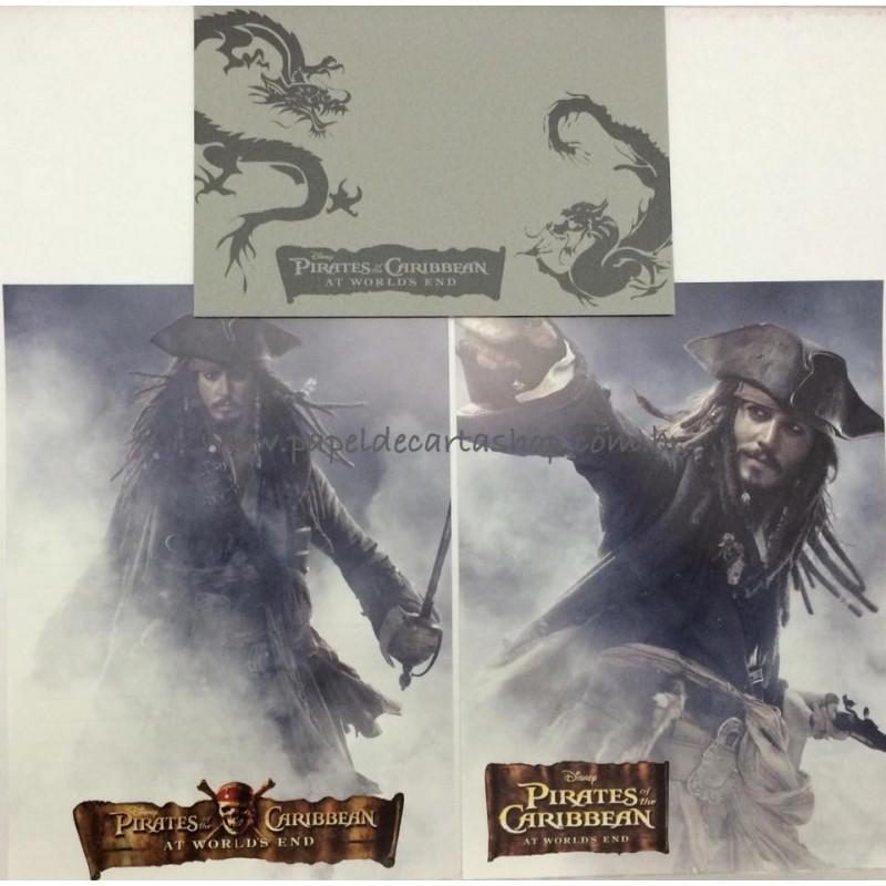 Conjunto de Papéis de Carta Disney Piratas do Caribe